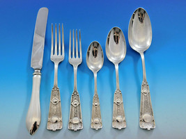 Ribbon by Wendt Sterling Silver Flatware Service for 8 Set 48 pcs Antiqu... - $4,120.00