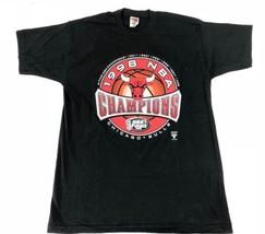 Chicago Bulls 1998 NBA Finals Champions Black Short Sleeve T-Shirt Shirt XL - $19.79