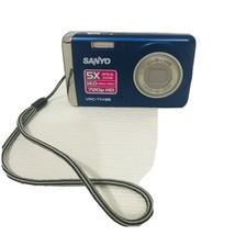 SANYO VPC T1495 14.0 MP 720p HD Digital Camera - Blue 5X Optical Zoom No... - $9.97