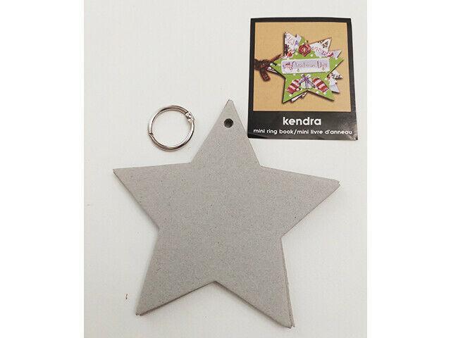 Creative Imaginations Star Shaped Mini Ring Book, Mini Album