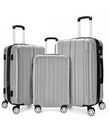Fochier 3 Piece Expandable Spinner Luggage Set Lightweight Suitcase - $161.94