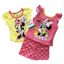 Disney Minnie Mouse 3 Pieces Baby Girls Summer Clothing Set,100% Cotton ... - $12.99