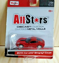 Maisto 2014 Chevy Corvette Stingray Coupe All Stars Red Die Cast 1:64 - $5.45