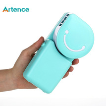 Portable Mini Air Conditioner Fan Smile Face USB Rechargeable Cooling Fan - $16.55