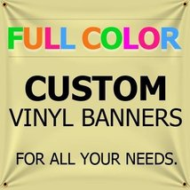 NEW 3'x17' Custom Full Color Vinyl Banners Indoor/Outdoor Personalized Banners w - $144.59