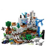 Minecraft Mountain Cave Small Version Building Block With Action Figures  - $62.00