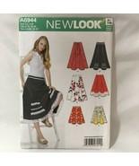 Swing Skirt Sewing Pattern Misses Sz 4-16 Uncut New Look A6944 Rockabill... - $9.87