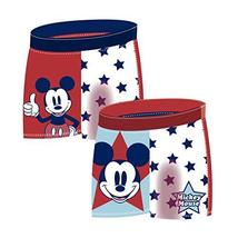 Disney Mickey Mouse Toddler Boys Swim Trunks (4 Years) Navy/Red - $6.99