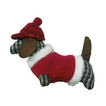 Plaid Holiday Dachshund Dog Christmas Ornament - $15.50