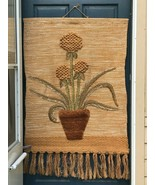 """Vintage 1988 ICA Woven Wallhanging Wall Hanging Tapestry Fiber XL 51"""" x ... - $123.49"""