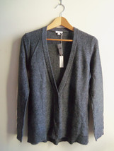 Gap Women's Shimmer Metallic Wool Blend Cardigan Sweater Gray Solid Size... - $42.31