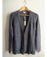 Gap Women's Shimmer Metallic Wool Blend Cardigan Sweater Gray Solid Size... - $42.31