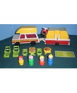 Vintage Fisher Price #992 Car and Pop Up Camper Complete VG+-VG++ (G) - $75.00