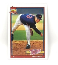 1991 Topps Baseball Card #503 - Roy Smith - Minnesota Twins - Pitcher - $0.99