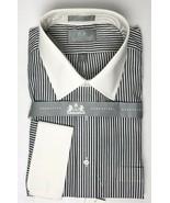 Stafford Executive Shirt White Gray Pinstripes 17 1/2 - 35 New - $34.16