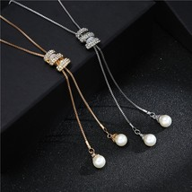 New Autumn Winter Fashion Metal Silver Long Tassel Rhinestone Crystal Pe... - $9.34