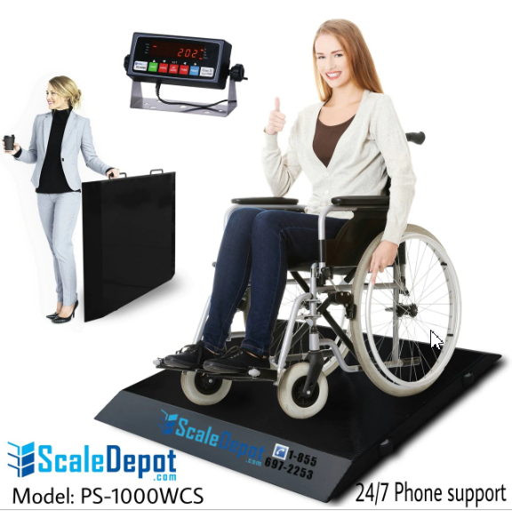 PS-1000WCS 1000lb Wheelchair / Drum / Bariatric / Medical Scale Free Shipping