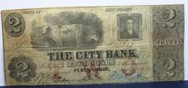 COWS -RARE -CITY BANK $2 PERTH AMBOY ,N J. - SCARCE BANKNOTE - $1,187.01