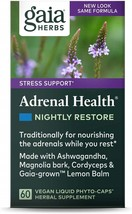 Gaia Herbs Adrenal Health Nightly Restore, Vegan Liquid Capsules, 60 Count - $102.11