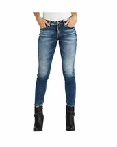 Silver Jeans Co. Women's Aiko Mid Rise Ankle Skinny, Medium Wash, 29x27 ... - $39.08