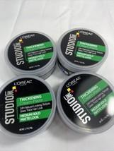 (4) Loreal STUDIO Line Thickening Creme Paste Medium Hold Matte Look 1.7 oz - $9.46