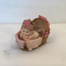 BABY IN BASSINETT Curio Figurine - $12.19