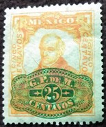 1910 Five Cents Hidalgo Mexico Stamp Overprinted - $0.99