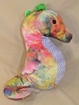 "Build A Bear Workshop Rainbow Seahorse Full Size 13"" Tie Dye Splash 2012 - $19.27"