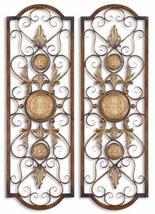Uttermost Micayla Panels 0.75 x 14 x 42 (Set of 2), Antiqued Gold - $213.40
