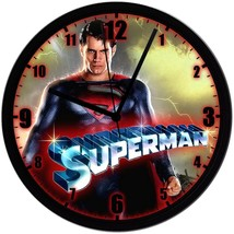 "SUPERMAN Exclusive 8"" Homemade Wall Clock, 1 AA Battery Included, FREE S... - $23.97"