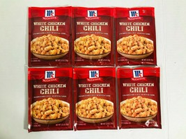 6 Packs McCormick White Chicken Chili Spice Seasoning Mix 1.25 oz Exp 2022 - $21.97
