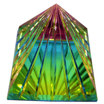 Scholer 80mm Peacock Grooved Crystal Pyramid image 2