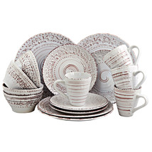 Elama Malibu Sands 16-Piece Dinnerware Set in Shell - $62.41