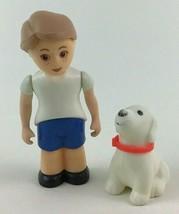 Little Tikes Dollhouse Boy Son Child And Dog Pet 2pc Lot Figures Vintage... - $22.72