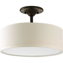 Progress Lighting Inspire Collection 2-Light Antique Bronze Semi-Flush M... - $34.99