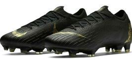NIKE MERCURIAL VAPOR 12 ELITE FG BLACK/GOLD SIZE 11 BRAND NEW $250 (AH7380-077) image 3