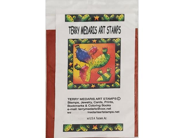 Terry Medaris Art Stamps-Cat in Boot-Unmounted Rubber Stamps, Set of 7