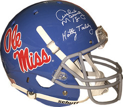 Archie Manning signed Ole Miss Rebels TB Light Blue Full Size Schutt Rep... - $218.95