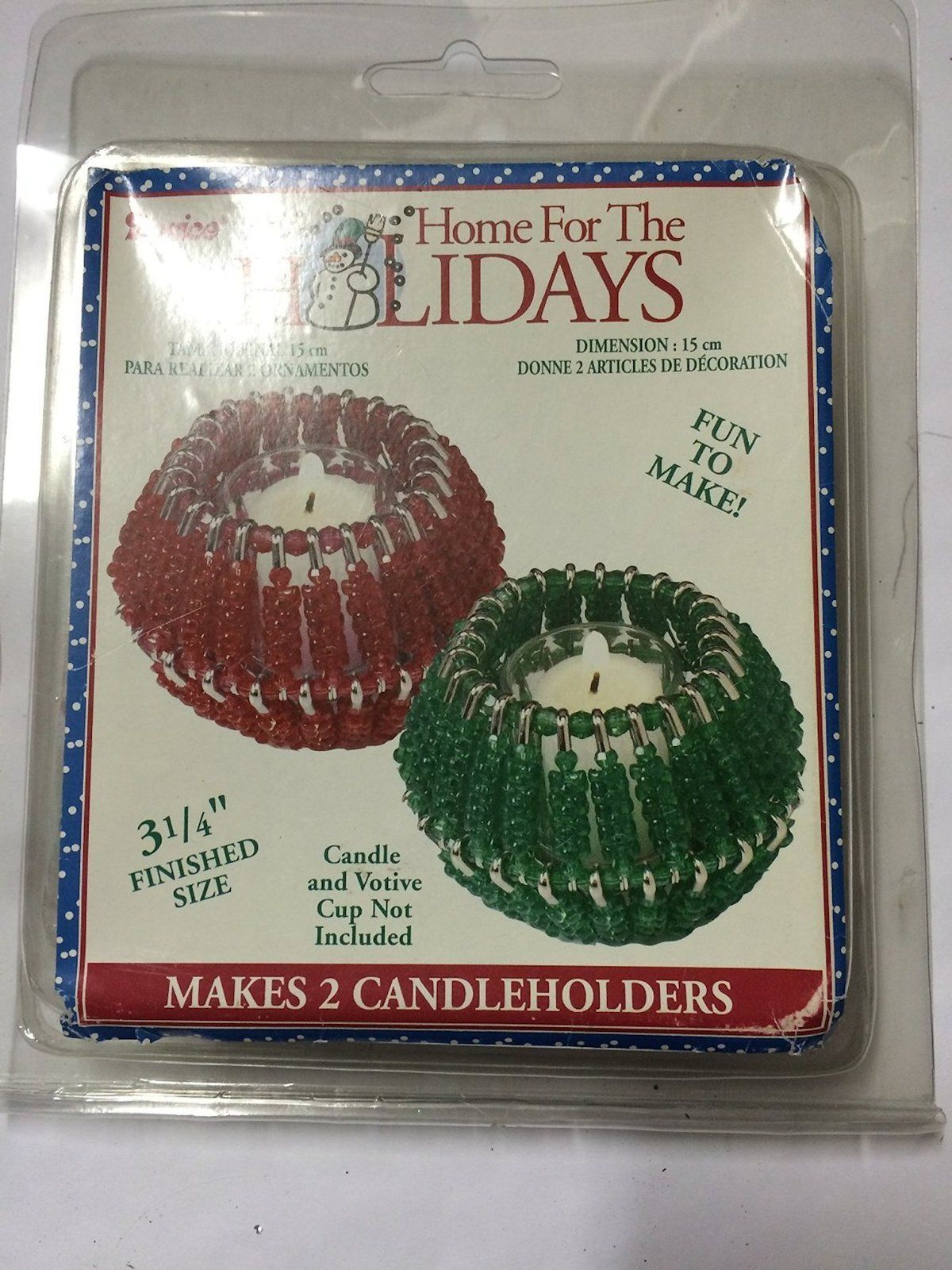 Darice Red/green Beaded Candle Cup Kit #1969-33