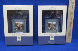 Photo Holder Ornament Hallmark Keepsake ' The Family Tree ' 2002 Lot Of 2 NOS - $15.83
