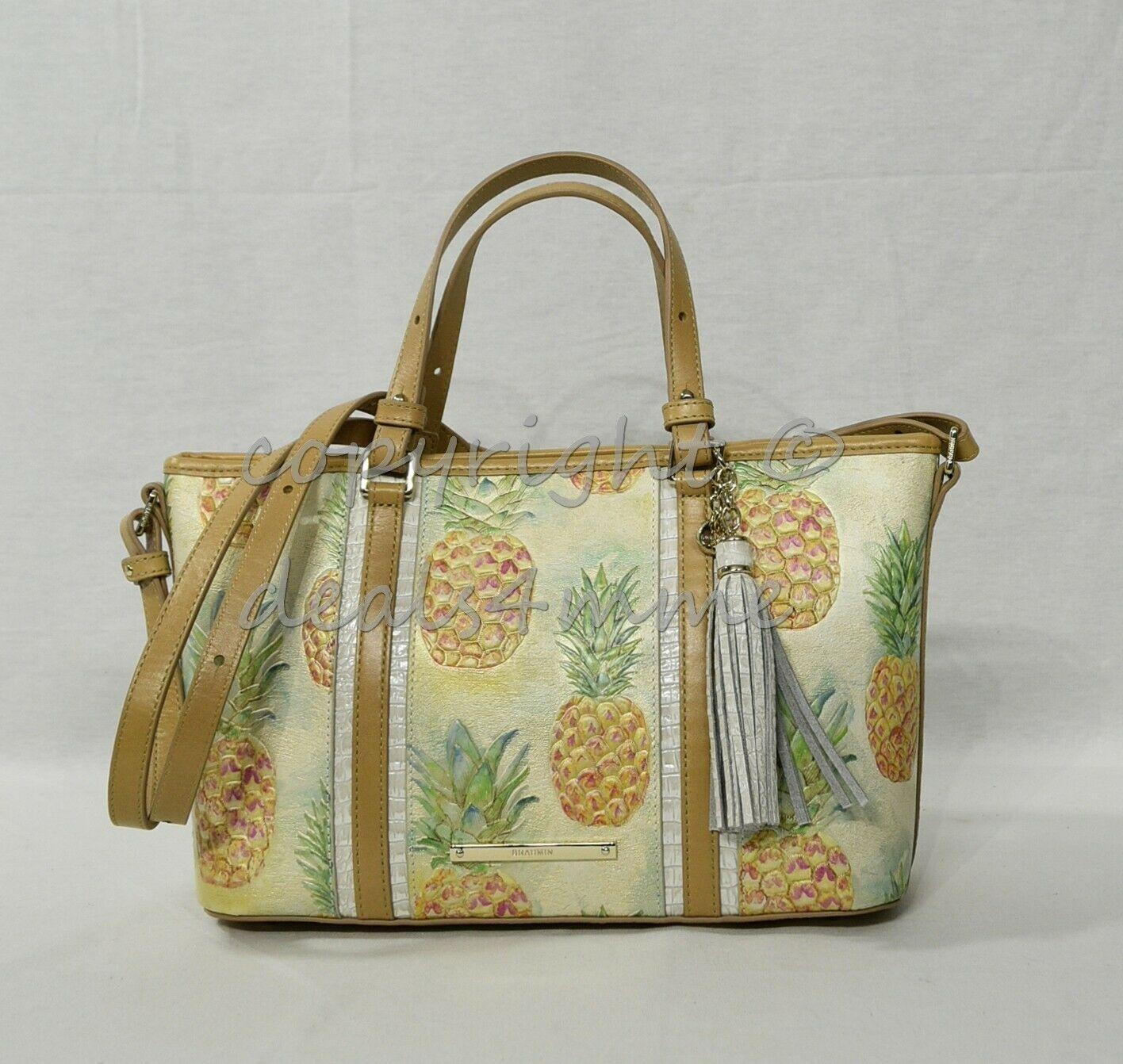 NWT Brahmin Mini Asher Leather Satchel/Shoulder Bag in Multi Pompano