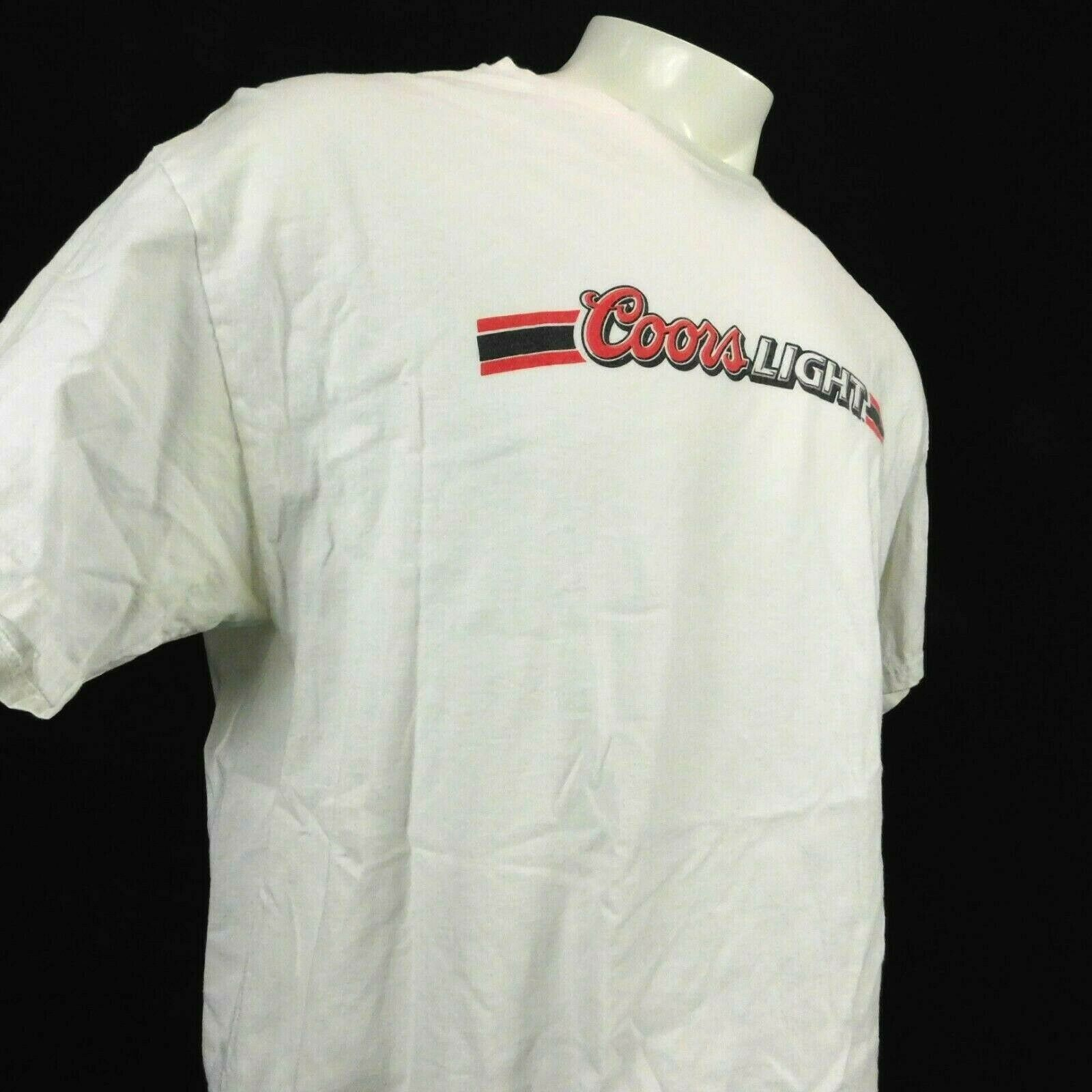 Primary image for Coors Light Beer White Tshirt Sz XL Hanes Heavyweight