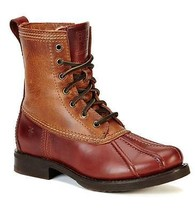 New in Box- $398 FRYE Veronica Duck Cinnamon Shearling Lined Leather Boot SZ 7.5 - $3.263,28 MXN
