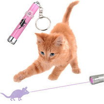 Interactive led Light Training Cat Play Toy Laser Pointer Pen Mouse Anim... - $12.99
