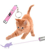 Interactive led Light Training Cat Play Toy Laser Pointer Pen Mouse Anim... - £9.32 GBP