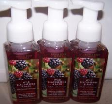 3 Bath & Body Works Wild Blackberries & Basil Gentle Foaming Hand Soap 8... - $18.65