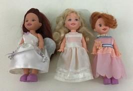 Barbie Baby Kelly Dolls Flower Fancy Dress Girls 3pc Lot Vintage 1994 Ma... - $20.74