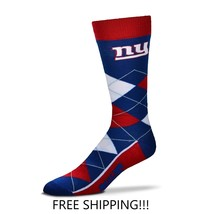 NEW YORK GIANTS ARGYLE DRESS/CASUAL SOCKS ONE SIZE FITS MOST FREE SHIPPI... - $12.19