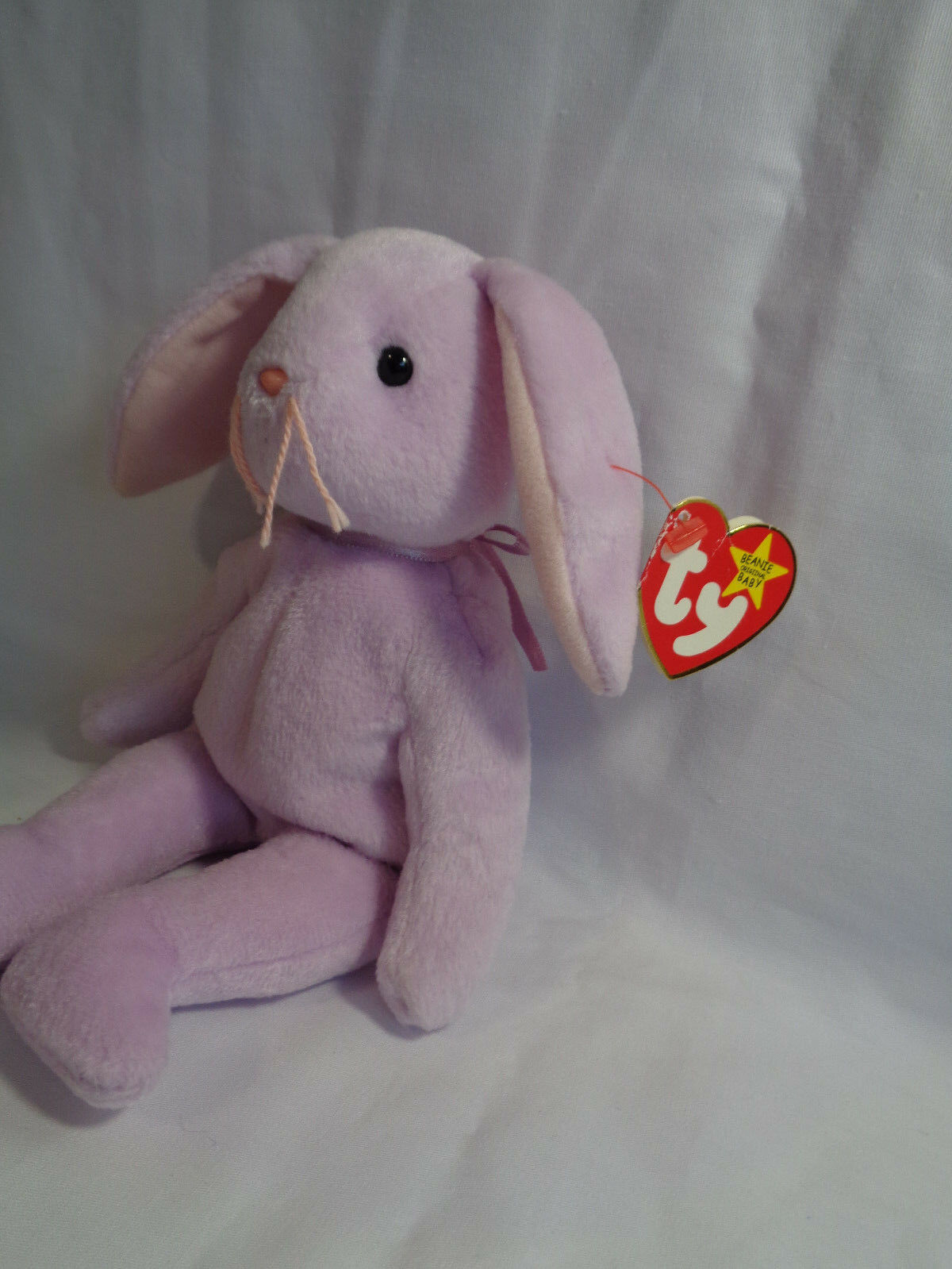 """TY Beanie Babies 1996 Lavender Bunny Floppity 8"""" w/ Hang Tag 5/23/96 image 2"""