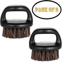 Borogo 2-Pack Beard Brush for Men - Men's Beard Brush Essential Tool For Profess